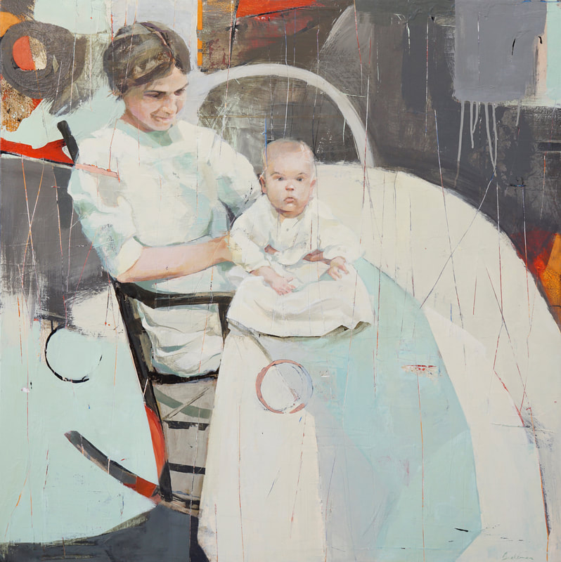 abstract mother and baby